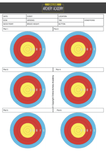 archery plotting scoresheet pdf