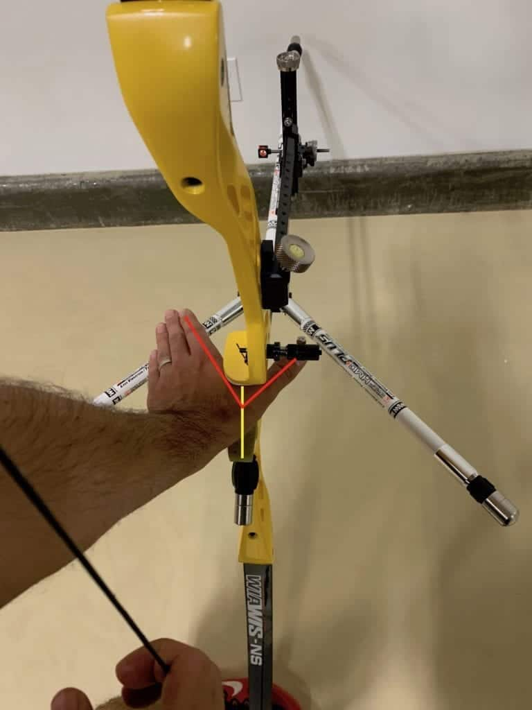 recurve bow hand showing grip positioning