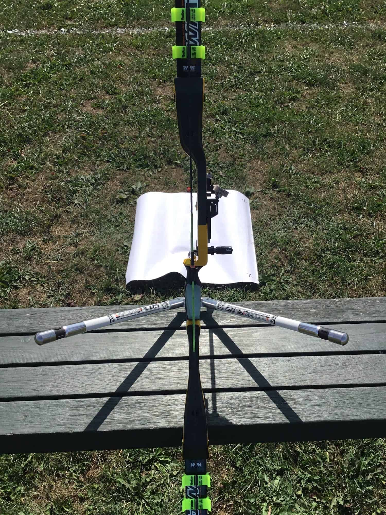 W&W TFT riser showing centreshot adjustment for recurve tuning