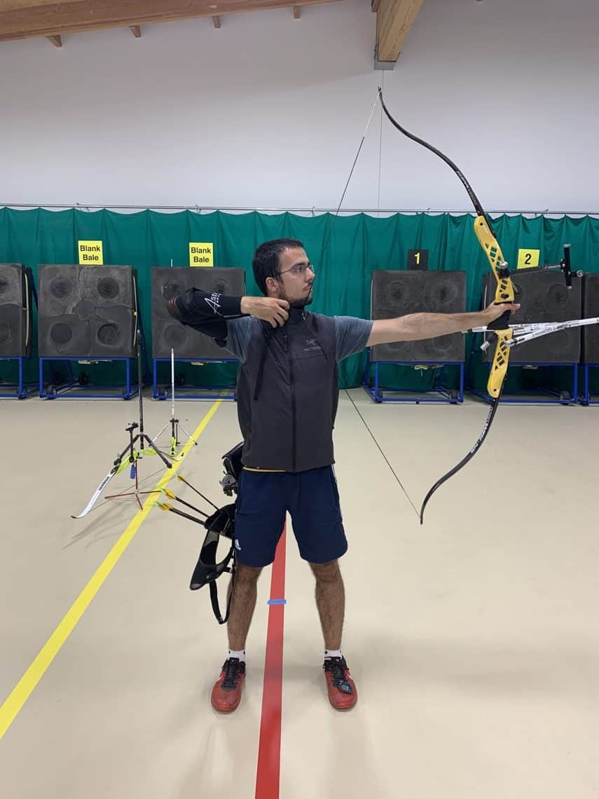 recurve archer showing formaster bow training holds