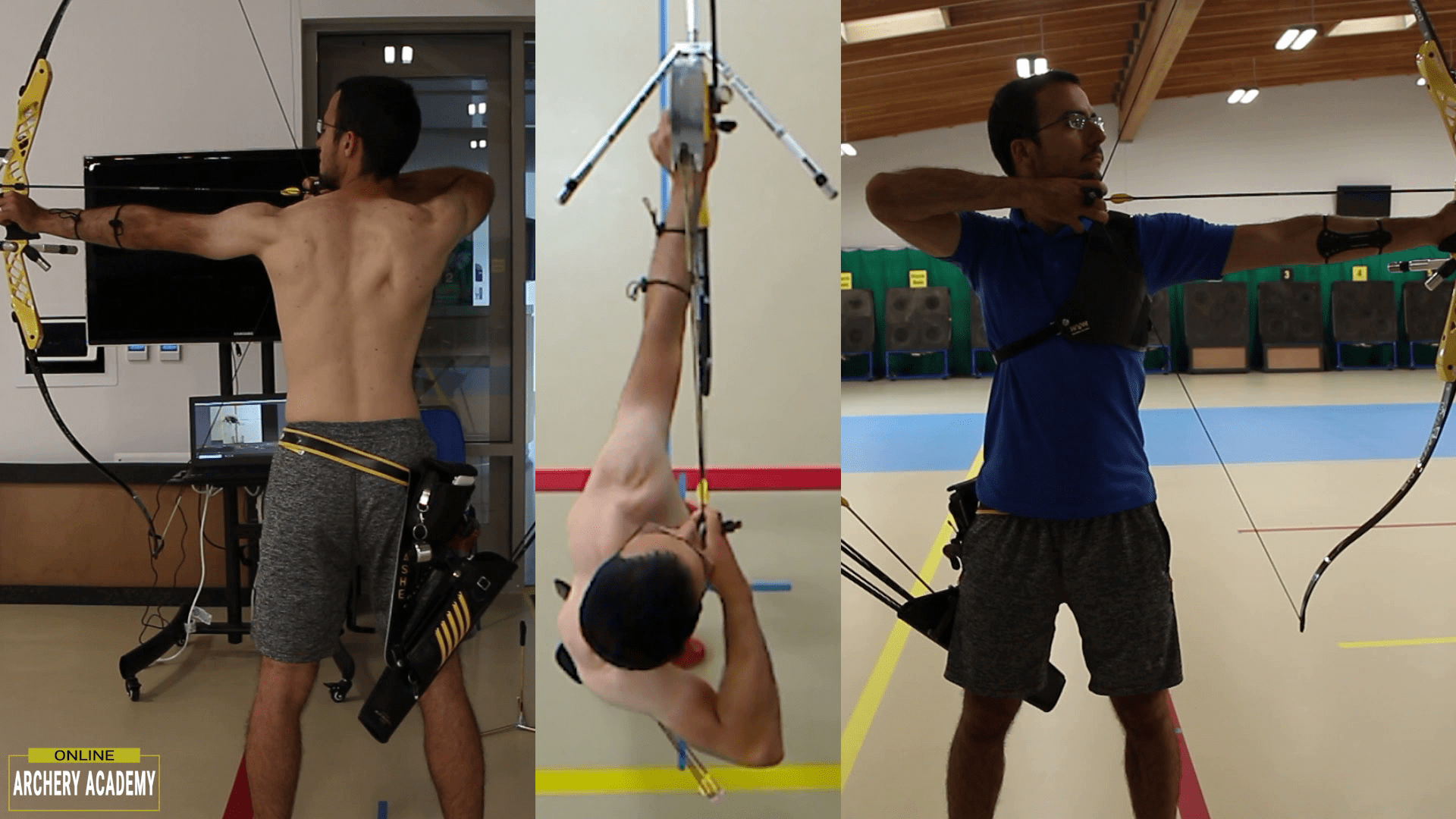 elite recurve olympic archer showing set-up position