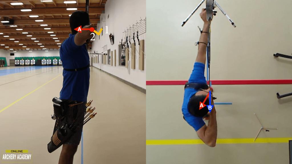 recurve archer showing expansion movement