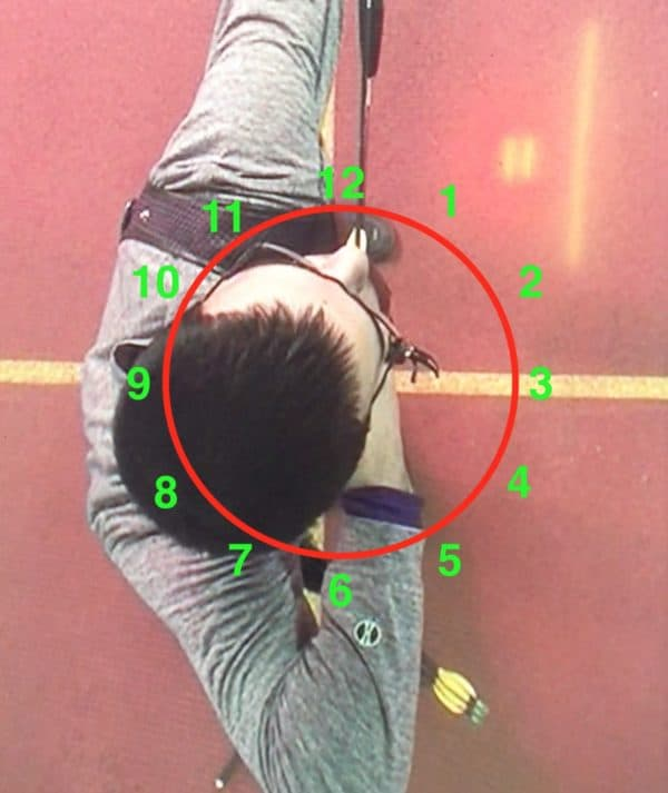 overhead showing angles to benchmark before making an archery training plan